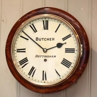 Oak 12' Dial Clock