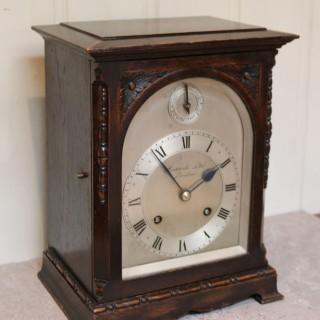 Oak Bracket Clock Supplied By Harrods