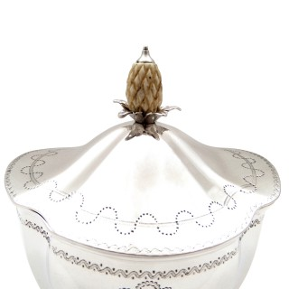 Antique Edwardian Sterling Silver Caddy 1901