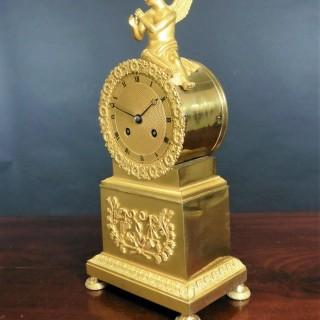 French Empire Ormolu Mantel Clock