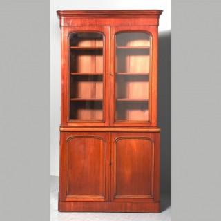 Victorian Mahogany 2 Part Library Bookcase