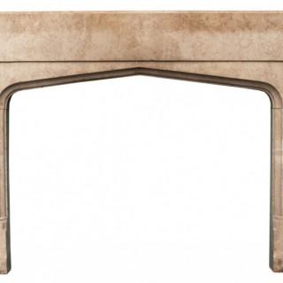A Reclaimed Fossilised Limestone Fireplace