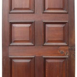 A Reclaimed English George III Oak Six Panel Internal Door