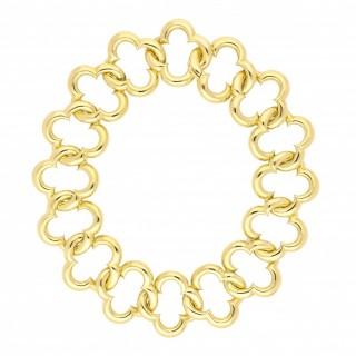 Van Cleef & Arpels Large Alhambra 18k Yellow Gold Outline Necklace
