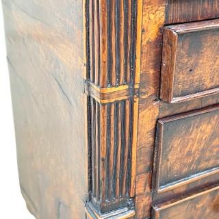Late Regency 19th Century Burr Oak Miniature Chest