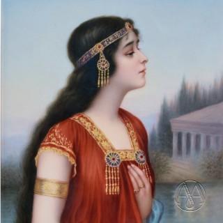 'Esther' - A Fine 19th Century Berlin (KPM) Porcelain Plaque