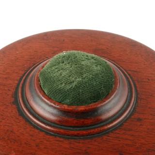 Circular Mahogany Bobbin Caddy
