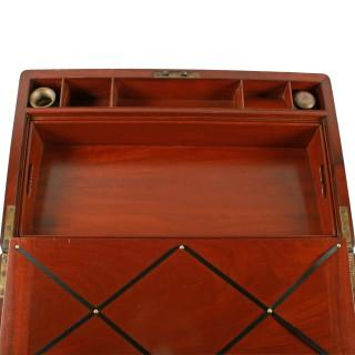 Campaign Style Mahogany Box Desk
