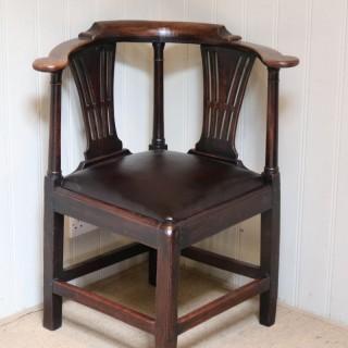 George III Country Elm Corner Chair