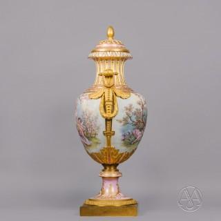 A Large Gilt-Bronze Mounted Sèvres-Style Vase