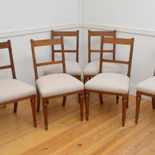 Set of Six 19th Century Walnut Dining Chairs