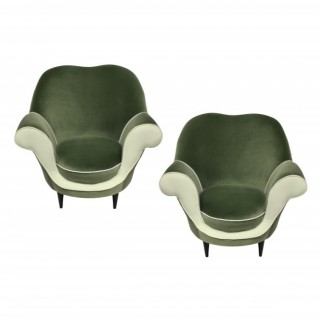 A PAIR OF SCULPTURAL ARMCHAIRS BY ICO PARISI