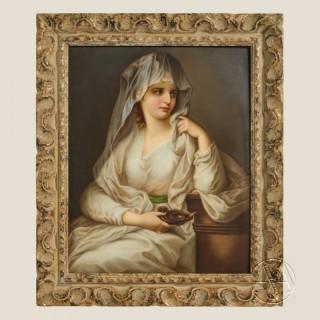 A Fine Berlin (KPM) Porcelain Plaque of A Vestal Virgin