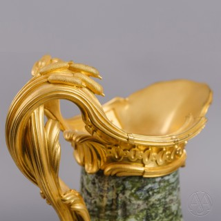A Fine Pair of Louis XV Style Gilt-Bronze Mounted Marble Ewers