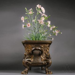 A Patinated Bronze Jardinière