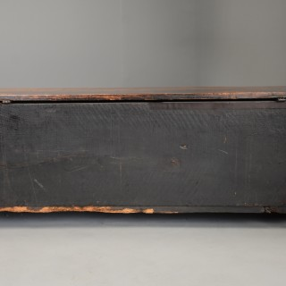 Late 16th century Italian carved walnut cassone (marriage chest) of fine patina