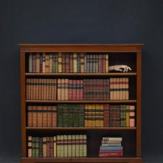 Late Victorian Solid Mahogany Open Bookcase