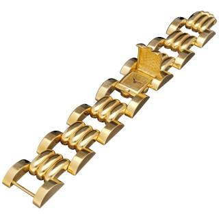 Patek Philippe Rare Retro Tank Cuff Bracelet Watch, 1942