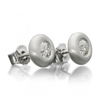Hancocks Old European Cut Diamond and 18 Carat White Gold 'Doughnut' Earrings