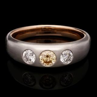 Hancocks Fancy Intense Yellowish Orange Diamond & Diamond Gypsy Ring