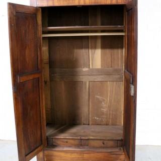Late 19th Century French Cherry Wood Wardrobe