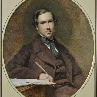 George Elgar Hicks - Portrait of a Young Gentleman