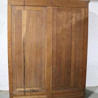 French Solid Oak Wardrobe