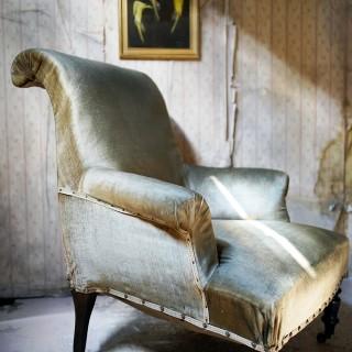 A 19thC Ebonised Napoleon III French Armchair c.1870