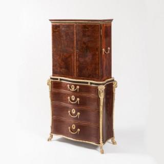 A Magnificent Bureau Bookcase in the Neoclassical Manner