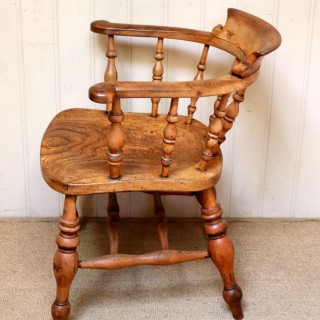 Elm And Beech Smokers Bow Armchair