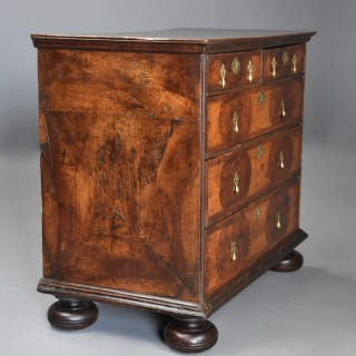 Rare and fine William & Mary yew wood and walnut chest of drawers