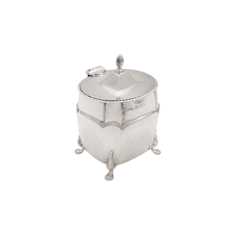 Antique Edwardian Sterling Silver Caddy 1906