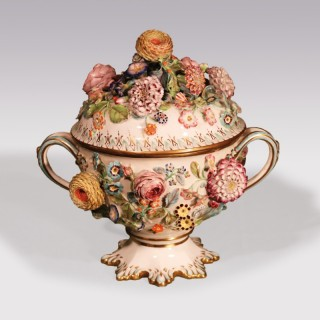 A mid 19th Century Coalport Coalbrookdale porcelain Tureen & Cover
