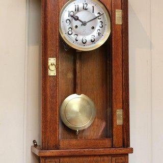 Oak Arts And Crafts Striking Wall Clock
