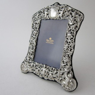 Antique Victorian Sterling Silver Photograph Frame - 1897