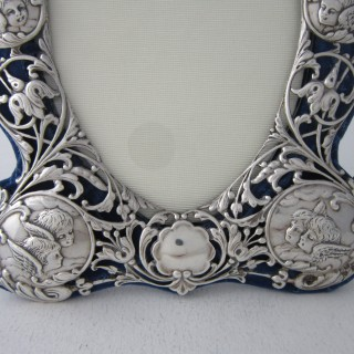 Antique Victorian Sterling Silver Photograph Frame -1897