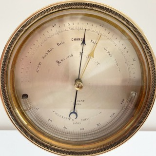 Early Victorian Lucien Vidi Aneroid Barometer by EJ Dent Paris.