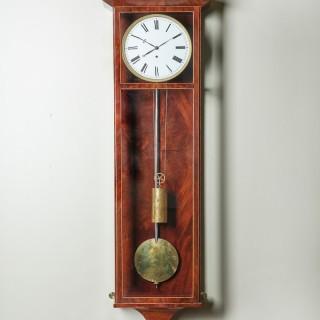 Fine Eight Day 19th Century Architectural Vienna Biedermeier Regulator Clock