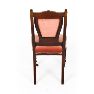 Antique Pair Late Victorian Side Chairs 19th Century