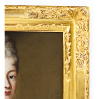Antique French School Oil on Canvas Portrait of a Lady 18th Century