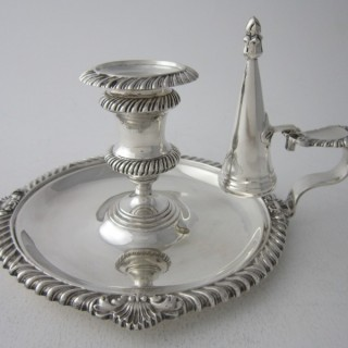 Antique Victorian Sterling Silver Chamberstick - 1897