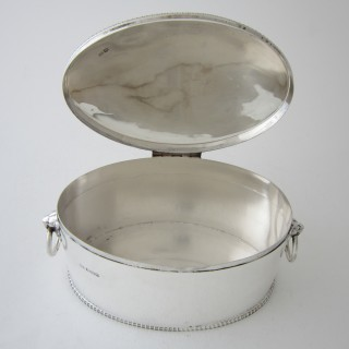 Antique Sterling Silver Biscuit Box - 1916