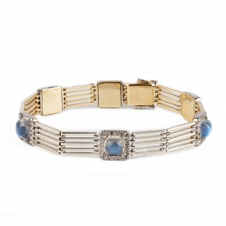Moonstone and diamond bracelet
