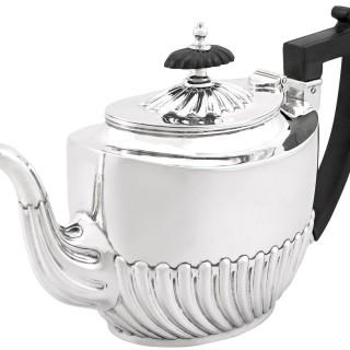 Sterling Silver Three Piece Tea Service - Boxed - Antique Victorian (1894)