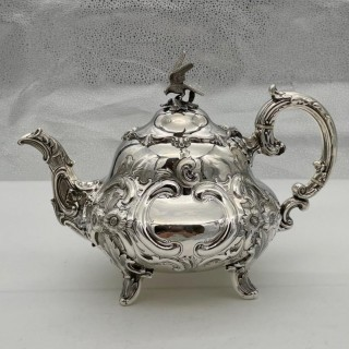 Antique Victorian Sterling Silver Teapot London 1845 A B Savory & Sons