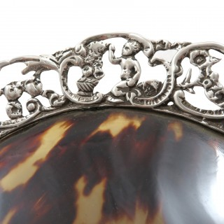 Antique Victorian Sterling Silver Dish/ Tray 1888
