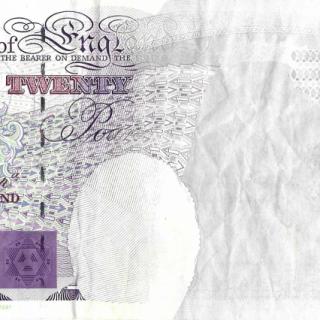 ERROR: Bank of England, Graham E. A. Kentfield, £20, 1991, Serial Number E11 038404