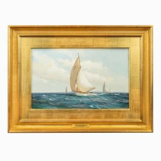 Montague Dawson: Racing Six-Metre yachts