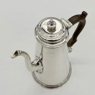 Antique George II Silver Coffee Pot London 1737 John Swift