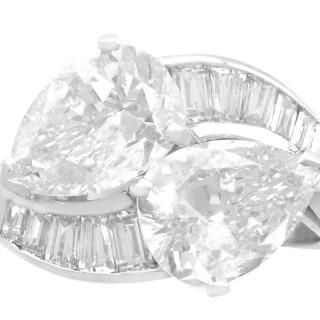 3.80 ct Diamond and Platinum Twist Ring - Vintage Circa 1990